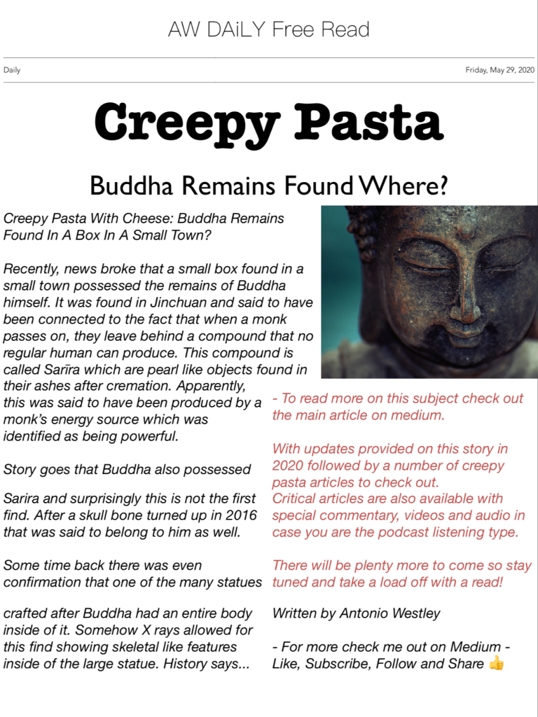 Buddha Remains Found Where?