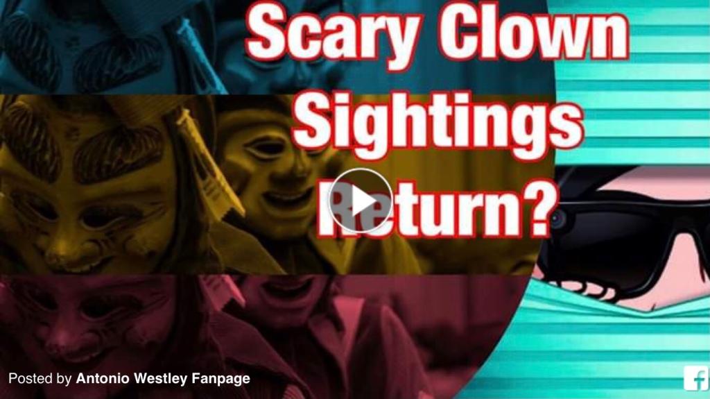 Creepy Clown Sightings Return