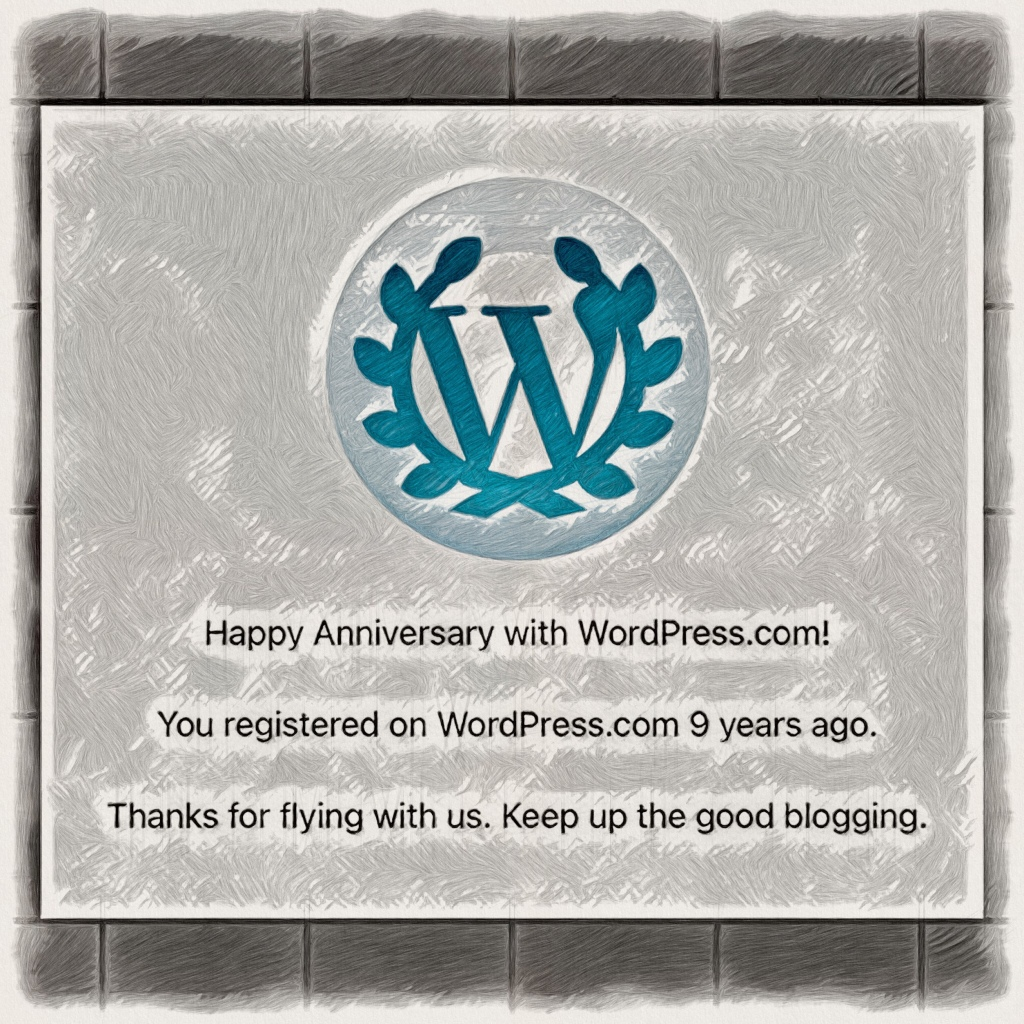 Wordpress Nine Year Achievement