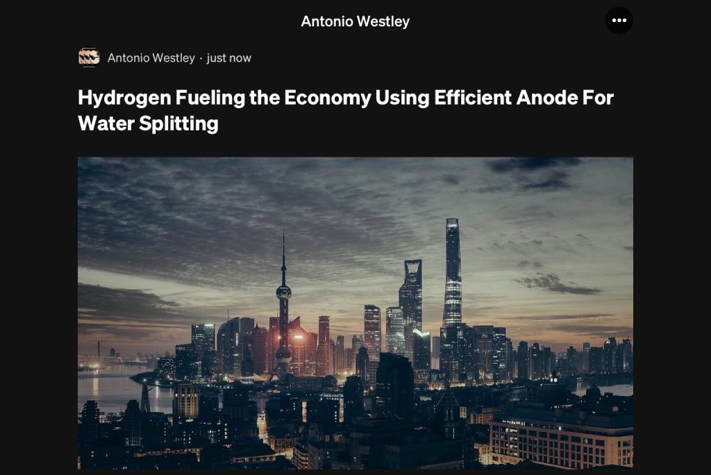 Hydrogen Fueling The Economy Using Water Splitting