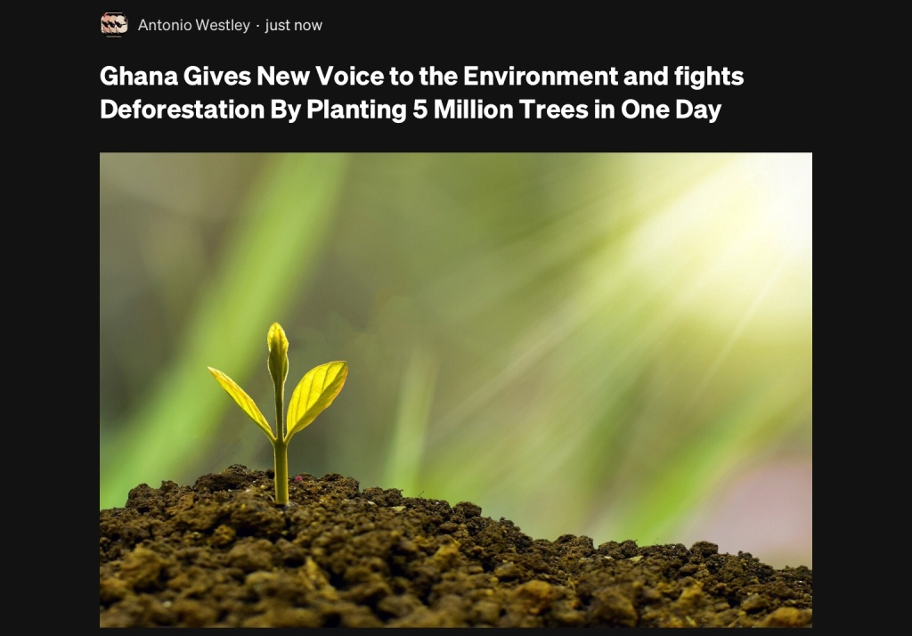 Ghana Plants 5 Million Trees In One Day