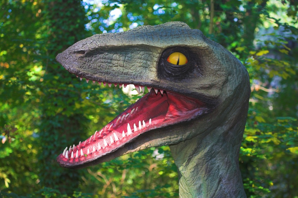 Bright Smiling Raptor