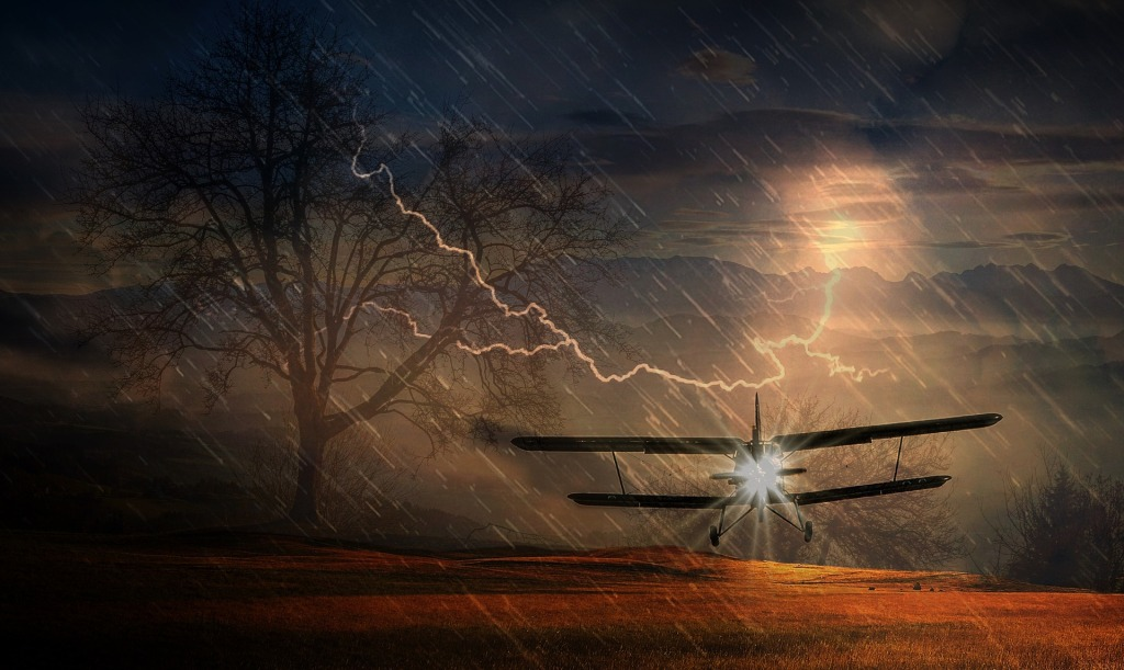 flying through acid rain