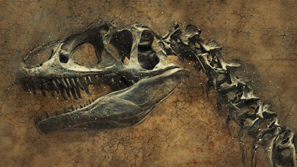 T Rex Fossilized